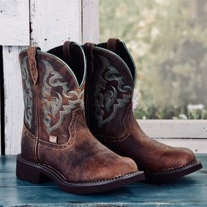 Womens justin gypsy cowgirl boots
